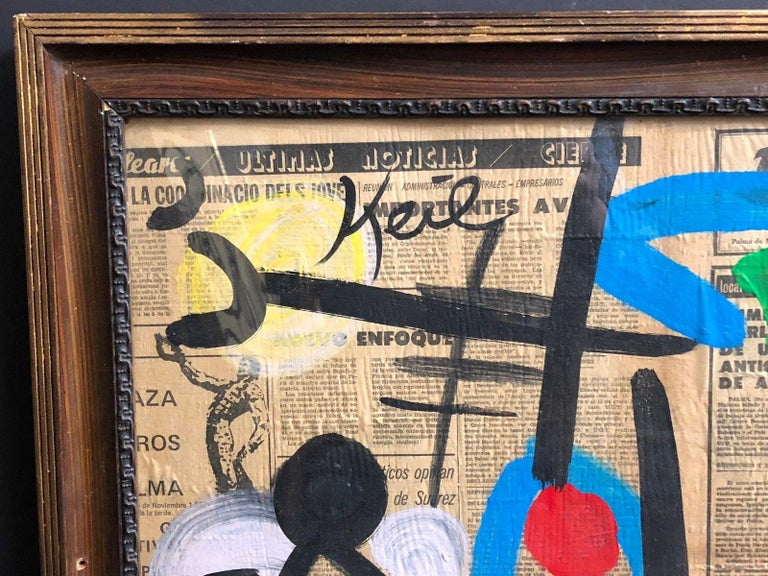 Spanish Peter Keil Abstract Expressionist Oil Painting For Sale