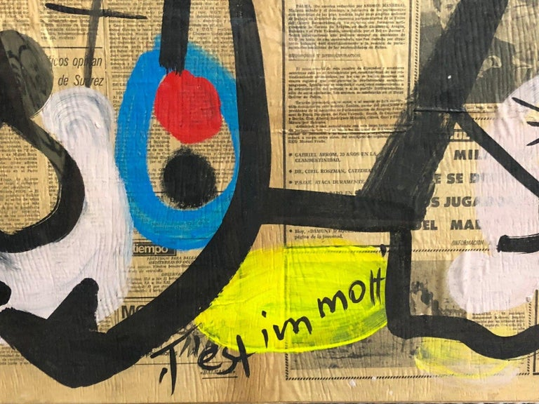 Peter Keil Abstract Expressionist Oil Painting In Good Condition For Sale In New York, NY
