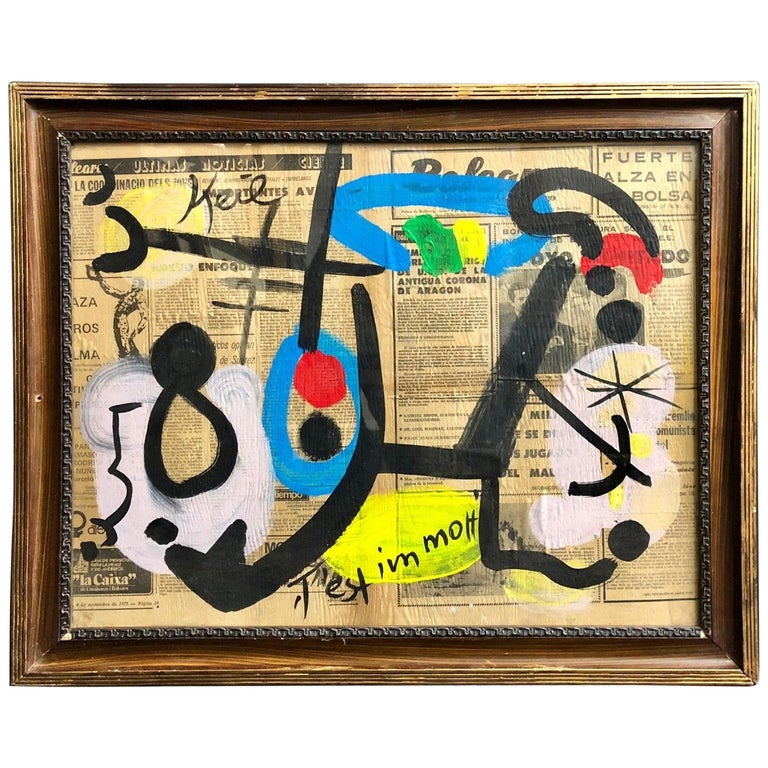 Peter Keil Abstract Expressionist Oil Painting For Sale