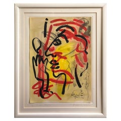 "Peter Keil ""Dreaming Woman"" Abstract Expressionist Oil Painting"