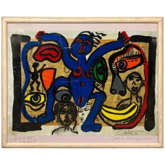 Peter Keil Expressionist Framed Oil Painting 'The Polish Dancers from Krakau'