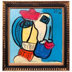 Peter Keil Expressionist Oil Painting of a 'Spanish Torero', Framed