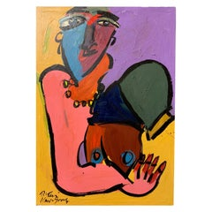 Peter Keil Expressionist Portrait Painting of Judith Jamison