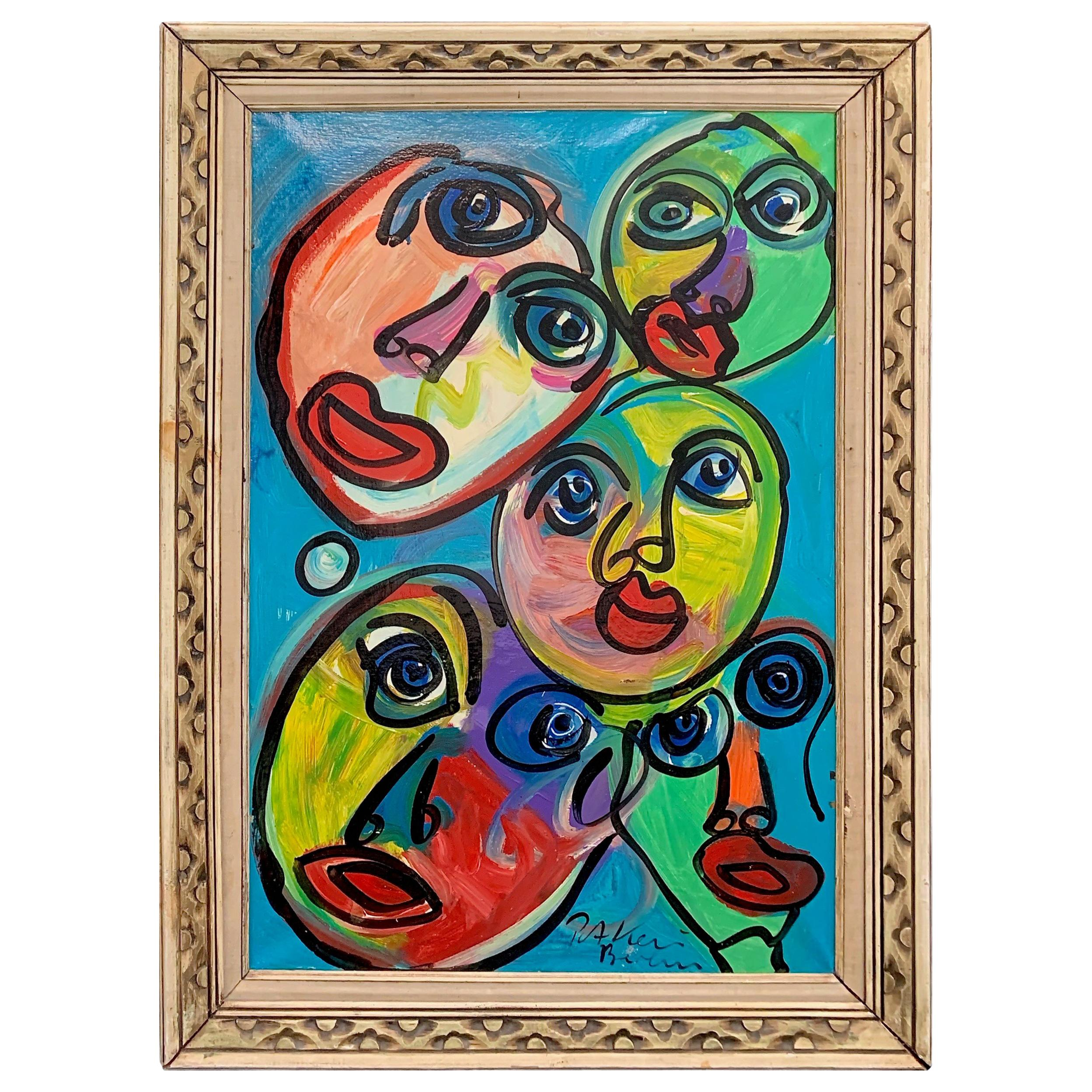 Peter Keil Expressionist Portrait Painting of The Beatles In Hamburg