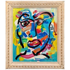 Peter Keil German Expressionist Portrait Painting Of a Young Man