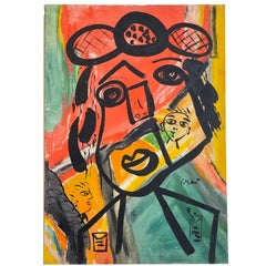 Peter Robert Keil Acrylic on Canvas Colorful & Dynamic Portrait