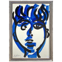 Peter Keil, Portrait of a Man, Blue Period