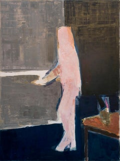 Walking Figure - 20th Century, Oil on canvas by Peter Kinley