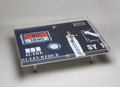 Peter Klasen SY 1 Table Coffee Table Artist's Design Table in Plexiglas