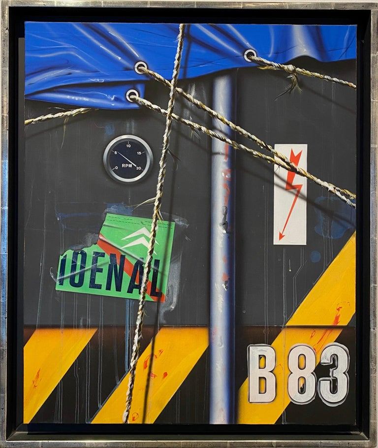 Container B83. - Painting by Peter Klasen