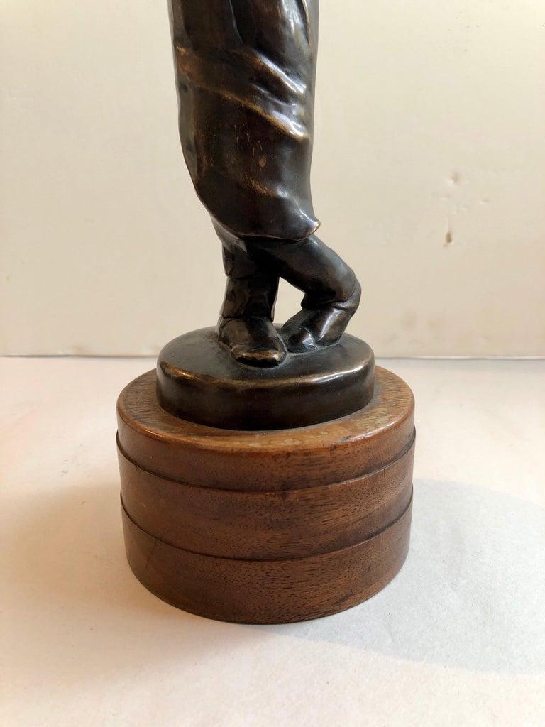 Art Deco Expressionist Bronze Judaica Rabbi Sculpture Los Angeles Modernist For Sale 5