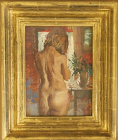 BEFORE THE DRESSING TABLE..Peter Kuhfeld RP.NEAC contemporary British artist