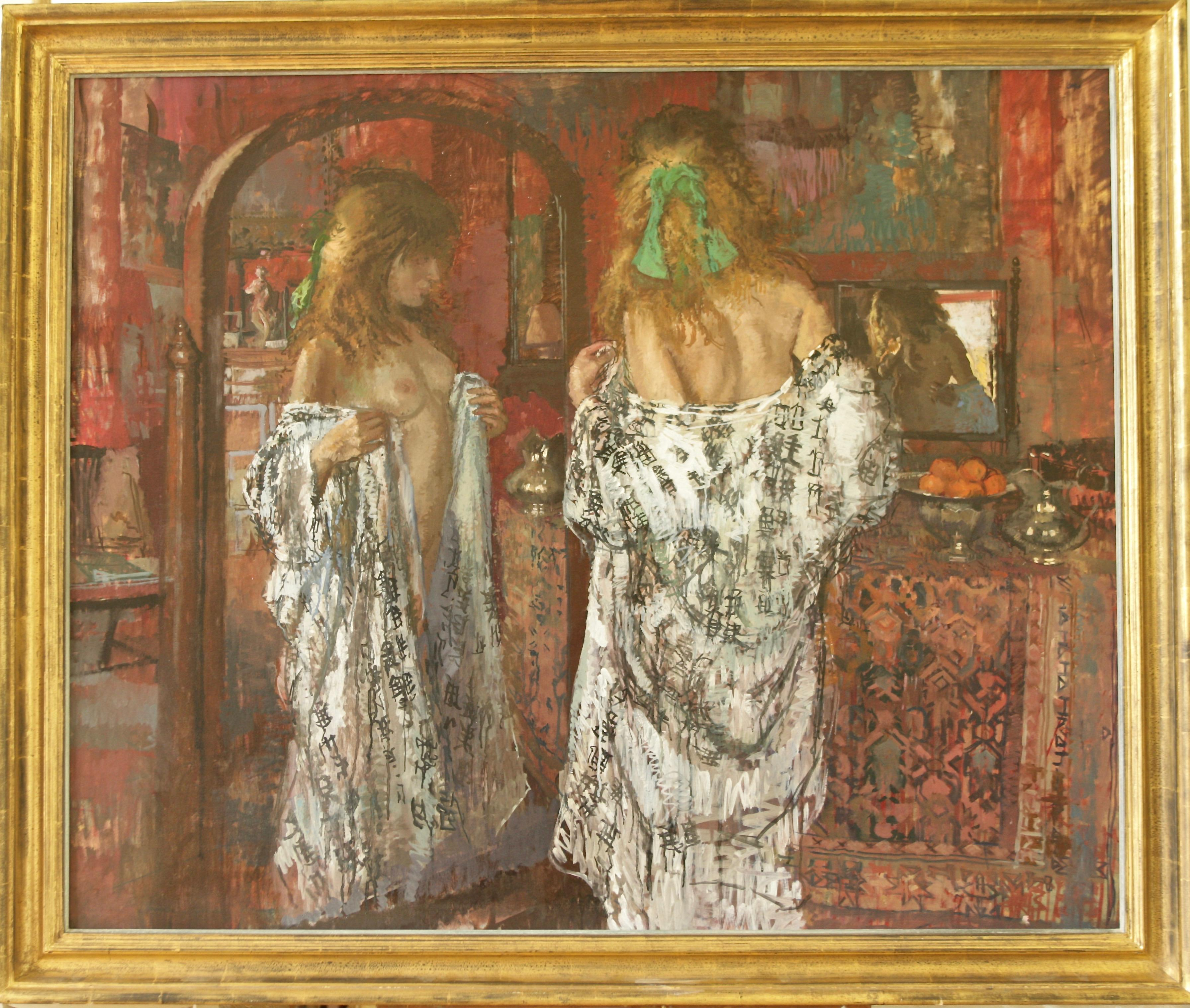 BEFORE THE MIRROW Peter Kuhfeld. contemporary British artist Royal collection