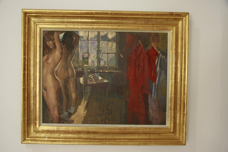 FIRST OF THE MORNING SUN.PETER KUHFELD NEAC RP 1952 contemporary British Artist For Sale 6