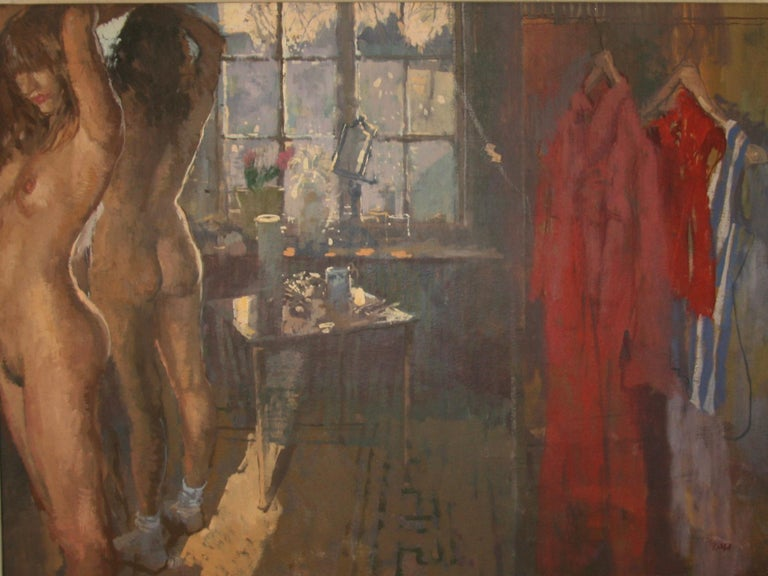FIRST OF THE MORNING SUN.PETER KUHFELD NEAC RP 1952 contemporary British Artist - Painting by Peter Kuhfeld