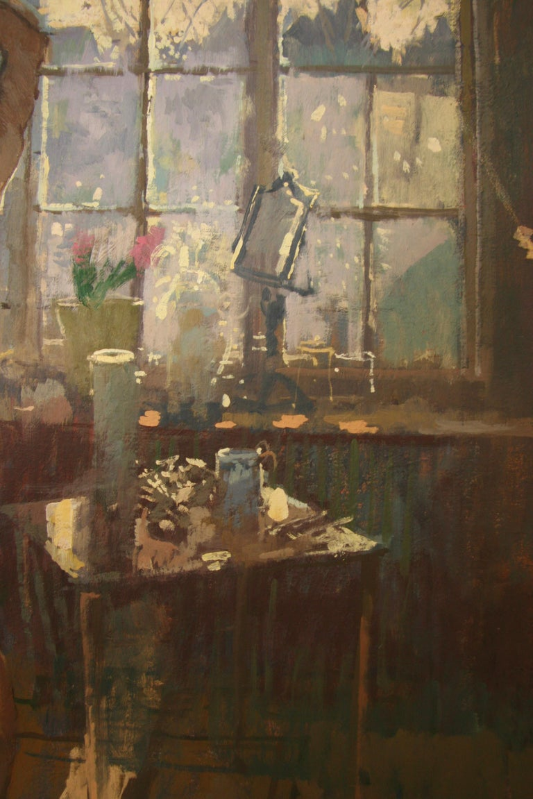 FIRST OF THE MORNING SUN.PETER KUHFELD NEAC RP 1952 contemporary British Artist For Sale 1