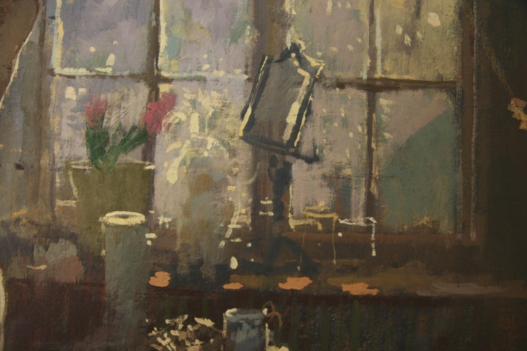 FIRST OF THE MORNING SUN.PETER KUHFELD NEAC RP 1952 contemporary British Artist For Sale 3