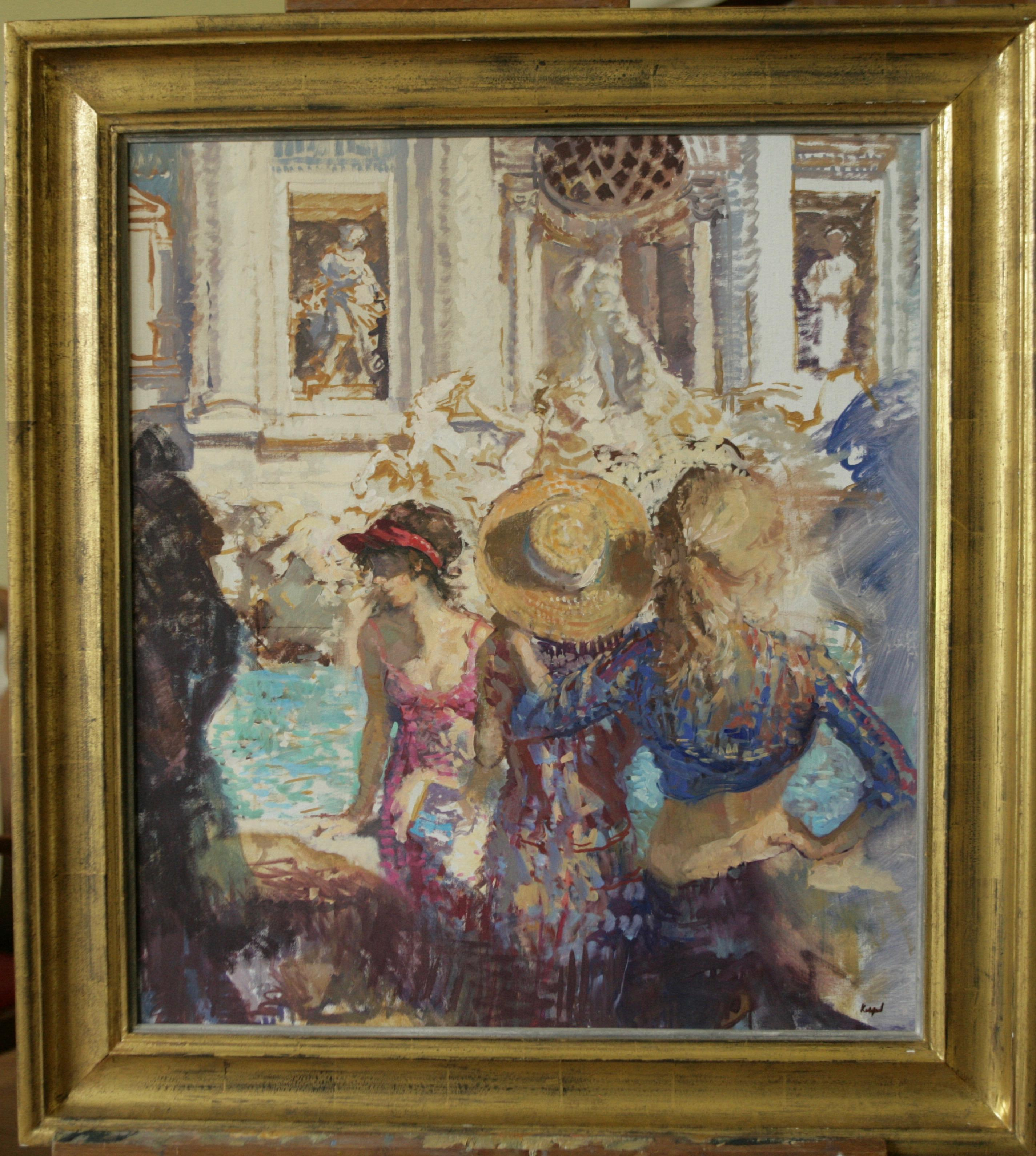 TRIVI FOUNTAIN SIGHTSEEING ROME..Peter Kuhfeld RP NEAC English impressionist