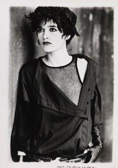 Pret a Porter. Italia. Fashion phothography in black and white, woman portrait