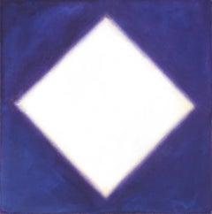 White Diamond on Blue