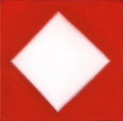 White Diamond Red Ground