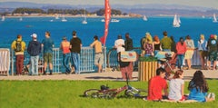 Coldwater Spectators with Boats / colorful surf, sail, bike scene
