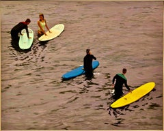 Courtship / oil on canvas - surfing scene