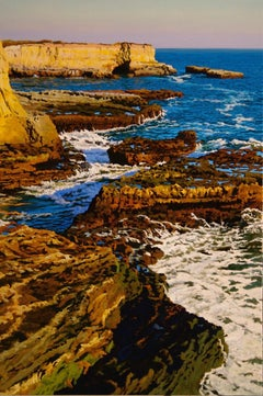 Evening Tide at Wilder / realist nature 36x24 in. oil on canvas nature painting