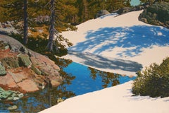 Melting Snow / oil on canvas landscape 44 x 66 inches