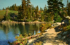 Path beside Round Lake / 52x80 in. oil on canvas