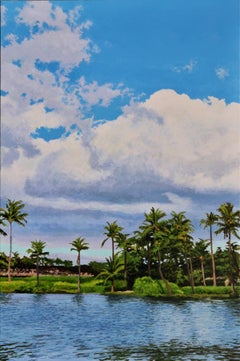 Sky above Waikoloa / oil on canvas painting - 36 x 24 inches