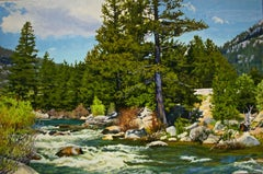 Spring Rapids  / oil on canvas Realism river nature scene