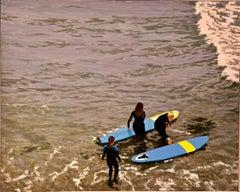 The Little Sister / oil on canvas - surfing scene