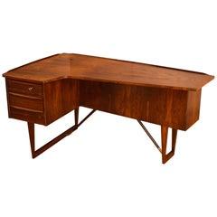 Peter Lovig Nielsen Rosewood Desk for Hedensted Mobelfabrik, Denmark