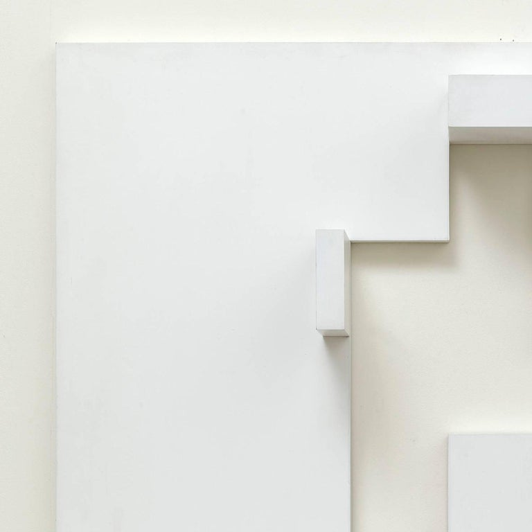White relief 2 - Sculpture by Peter Lowe