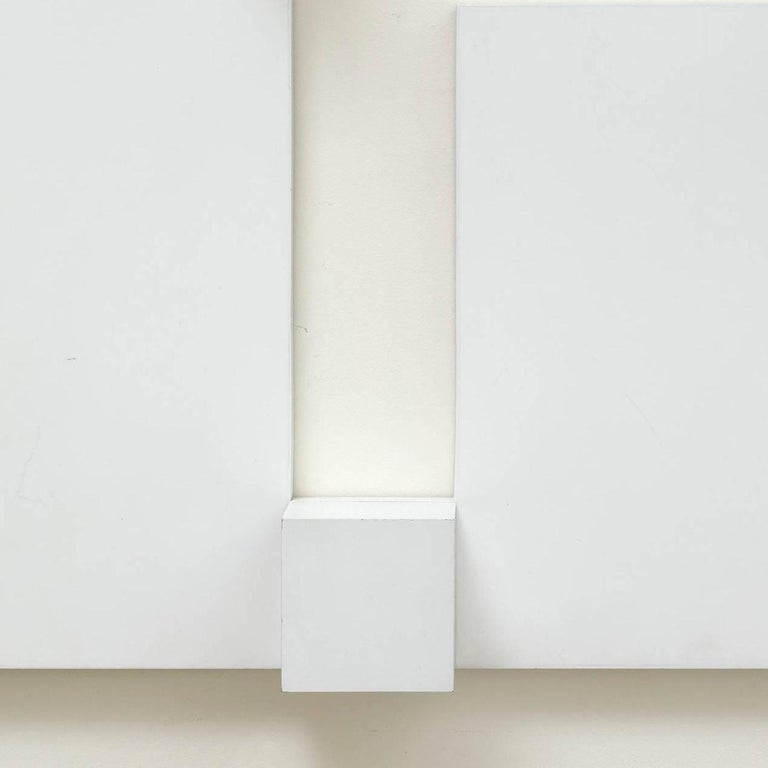 White relief 2 - Abstract Geometric Sculpture by Peter Lowe