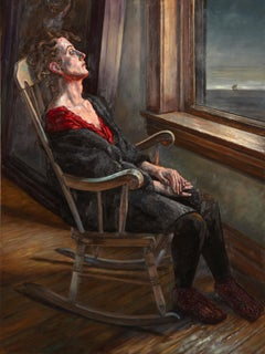 Medusa Complex, Solitary Female Figure in Rocking Chair, Staring Out a Window