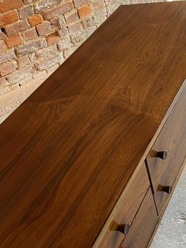 Danish Peter Løvig Nielsen Rosewood Sideboard Console Table, Denmark, 1960