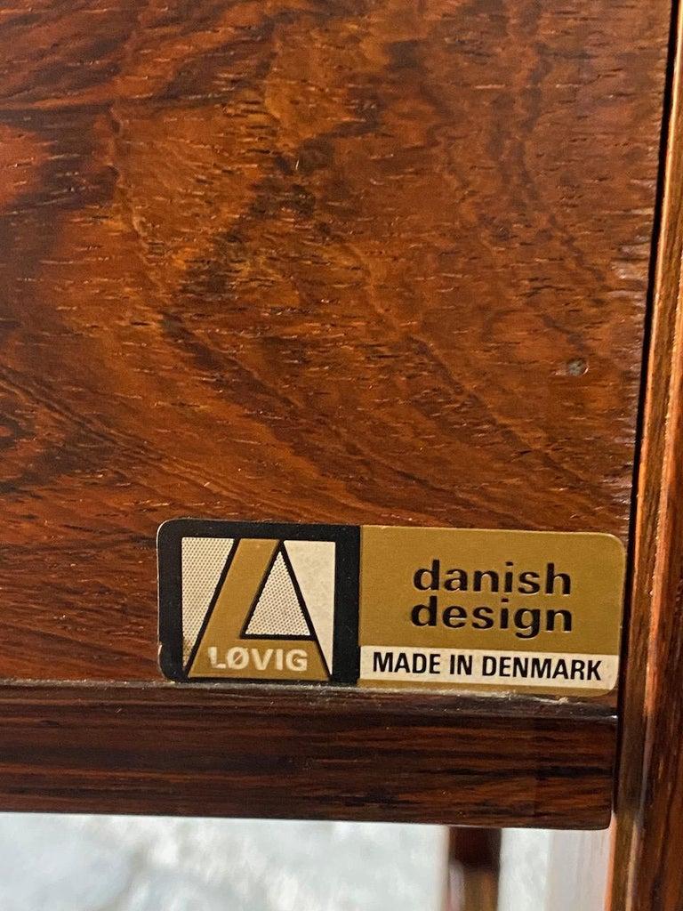 Peter Løvig Nielsen Rosewood Sideboard Console Table, Denmark, 1960 In Excellent Condition In Longdon, Tewkesbury
