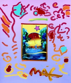 Better World, Original Mixed Media Painting, Peter Max - SIGNED