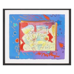 Peter Max Mixed-Media Enamel on Lithograph, 1996