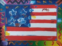 """American Flag,"" Patriotic United States, Star Spangled Banner, Uncle Sam"