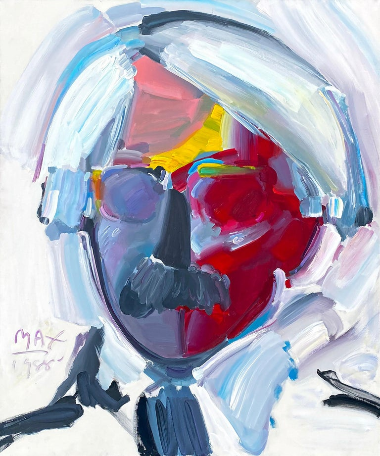 Peter Max Figurative Painting - Andy with Moustache