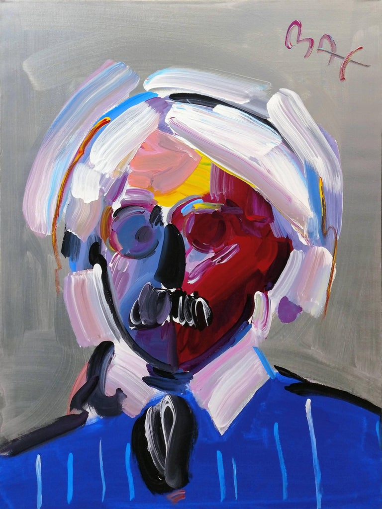 Peter Max Portrait Painting - ANDY WITH MUSTACHE VER. VIII #6