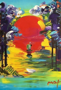 Better World, Mixed Media Painting, Peter Max - SIGNED