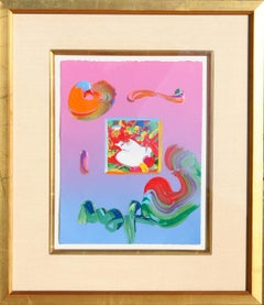 """Flower Blossom Lady"", 2009, Acrylic and Collage by Peter Max"