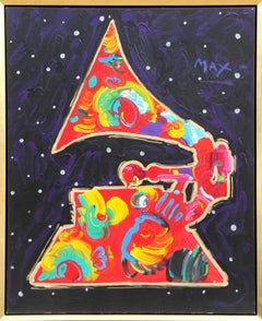 Grammy, Pop Art painting by Peter Max 1991