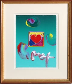 """""""Heart"""", 2009, Acrylic and Collage by Peter Max"""