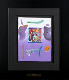 Liberty Head, Acrylic and Collage by Peter Max