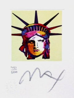 Liberty Head IX (Mini) Limited Edition Lithograph, Peter Max - Signed